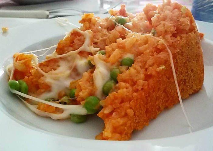 Sartù di riso piatto tipico Napoletano